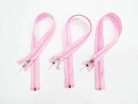 Zip Bundle- PINK- Luxe Lucite Zipper Pull- 50cm Open End Zips- 3 for $5