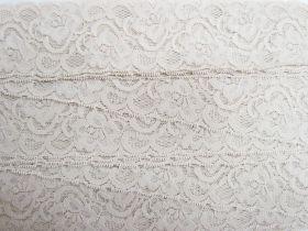 55mm Josephine Stretch Floral Lace Trim- Pearl Beige #268