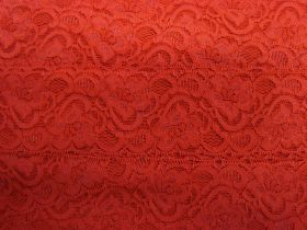 55mm Josephine Stretch Floral Lace Trim- Red #266