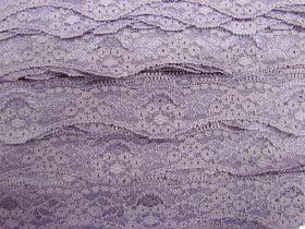 40mm Wave Edge Stretch Floral Lace Trim- Mauve #275