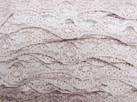 40mm Wave Edge Stretch Floral Lace Trim- Dusty Rose #279