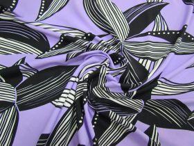 Fan Floral Spandex- Lilac #2940