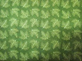 Autumn Leaves Cotton- Green #4906
