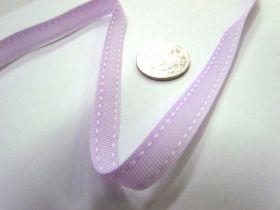 Stitch Ribbon 10mm- Lavender / White