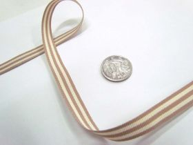 Candy Cane 10mm- Taupe / Cream