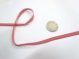 Gingham Ribbon 5mm- Red