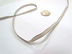 Gingham Ribbon 5mm- Latte