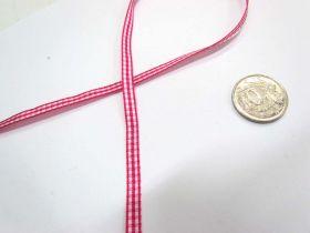 Gingham Ribbon 5mm- Dark Pink