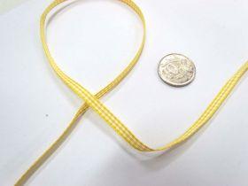 Gingham Ribbon 5mm- Yellow