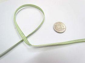 Gingham Ribbon 5mm- Lime