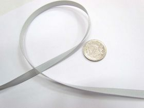 Grosgrain Ribbon 6mm- Silver Grey