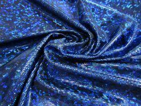 Dark Shattered Glass Spandex- Royal on Black