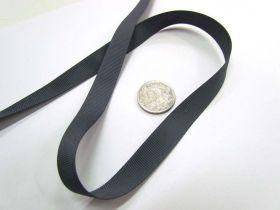 Grosgrain Ribbon 13mm- Charcoal