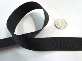 Roll of Grosgrain Ribbon 22mm- Black