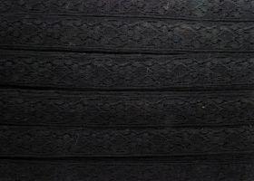 25mm Adeline Cotton Lace Trim- Black #313