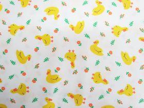 Lucky Ducky Cotton- White #PW1207