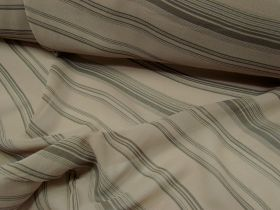 Banker Stripe Chiffon- Caramel