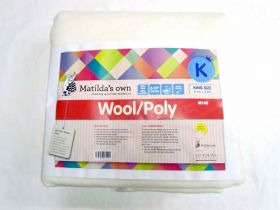 King Size Matilda's Own M140 Wool / Poly Precut Wadding