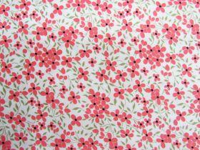Floweret Cotton- Coral #PW1280