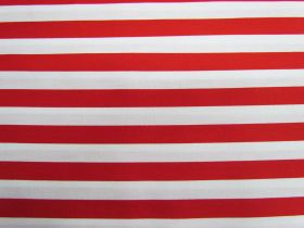 12mm Stripes Cotton- Red #PW1233