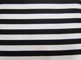 12mm Stripes Cotton- Black #PW1232