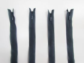 20cm Invisible Zip Bundle- 4 for $5- Steel Blue TRW34