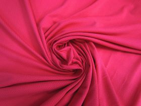 Sports Eyelet Spandex Jersey- Brilliant Pink #5020