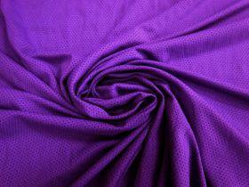 Sports Eyelet Spandex Jersey- Vibrant Purple #5022