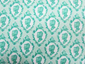 Ardently Austen Cotton- Teal #3124