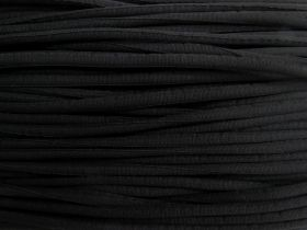8mm Chunky Covered Cord- Black #486