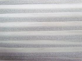 16mm Shiny Metallic Fold Over Elastic- Silver #497