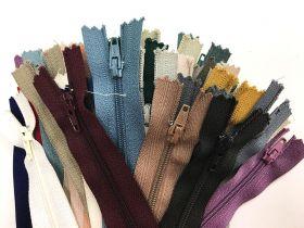 Lucky Dip 40 Pack of Dress Zippers- 10cm+