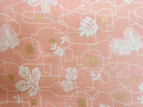 Ruby Star Society Cotton- Whatnot- Potted- Peach #12M