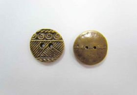 Large Aztec Old Gold Couture Buttons- CB201