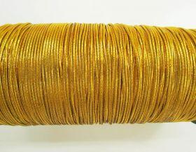 2mm Round Elastic- Metallic Gold #343