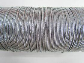 2mm Round Elastic- Metallic Silver #344