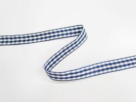 Gingham Ribbon 15mm- Navy