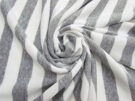 Striped Fleece- Light Grey #5065