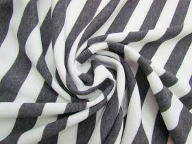 Striped Fleece- Dark Grey #5066