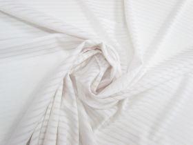 Sheer Stripe Knit- White #5076