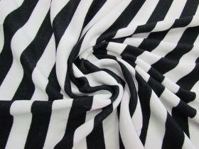 Striped Fleece- Black / White #5075