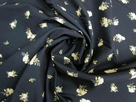 Afternoon Tea Rose Polyester- Navy #5080