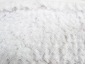 25mm Bunting Lace Trim- White #348