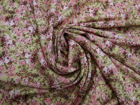 Rosy Posy Viscose Blend Crepe #5084