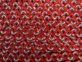 16mm Carnival Sequin Braid Trim- Red