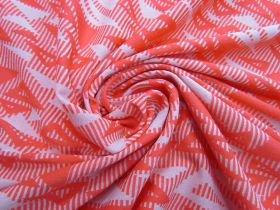 Jazzy Triangles Jersey- Coral #5093