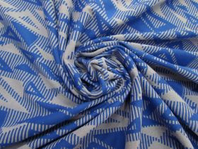 Jazzy Triangles Jersey- Royal Blue #5095