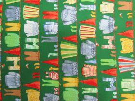 Organic Cotton- Winter Gnomes- Clothes Line- Green #51875