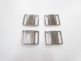 Designer Bikini Clasps- Silver RW258- 4 for $2