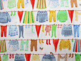 Organic Cotton- Winter Gnomes- Clothes Line- White #51875